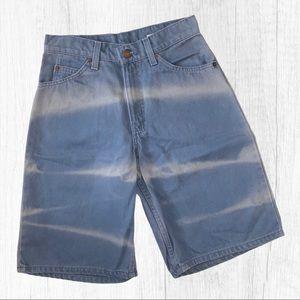 Vintage Levi's Blue Tie Dye Jean Shorts Sz 28